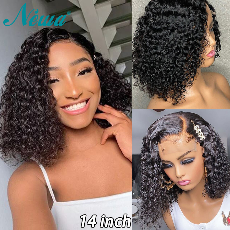 Cheap Lace Front Human Hair Wigs With Baby Hair 13x6 Short LaceFront Bob Wigs Brazilian Remy Hair 360 Lace Frontal Wig Newa Hair