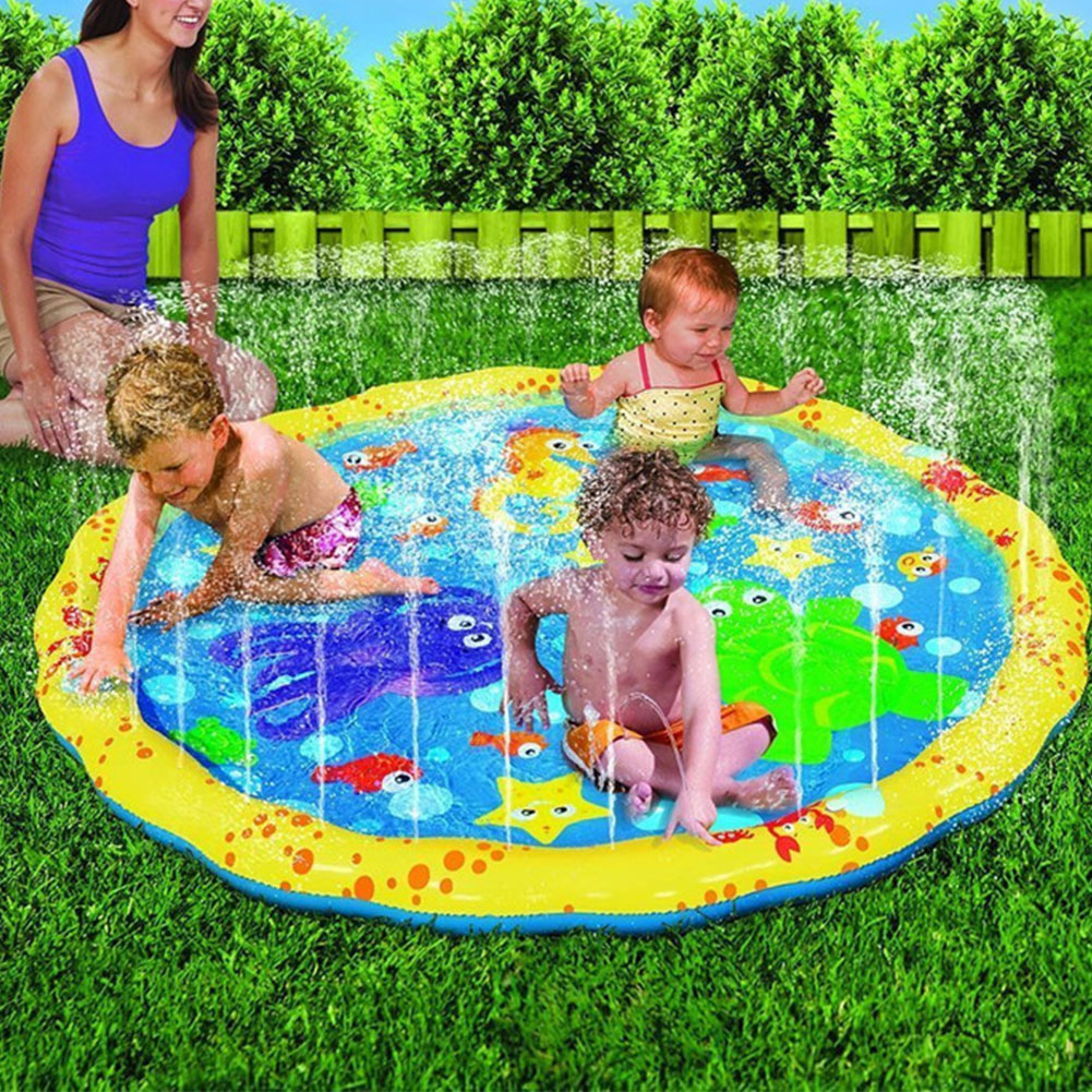 Play Mat Swimming Pool Lightweight Splash Water Outdoor Summer Toddler Practical Foldable Toy Pvc Inflatable Portable Children