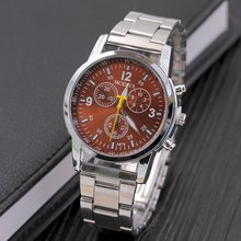 Metal Surface Steel Strip Fashion Casual Luxury Analog Quartz Watch