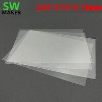 1pcs 0.15mm*200mm*270mm Wanhao Duplicator 8 D8 3D Printer FEP Sheet FEP Film 0.15mm thickness
