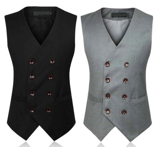 Autumn Dress Vests For Men Slim Fit Mens Suit Vest Male Waistcoat Gilet Homme Casual Sleeveless Formal Business Jacket 5XL 6XL