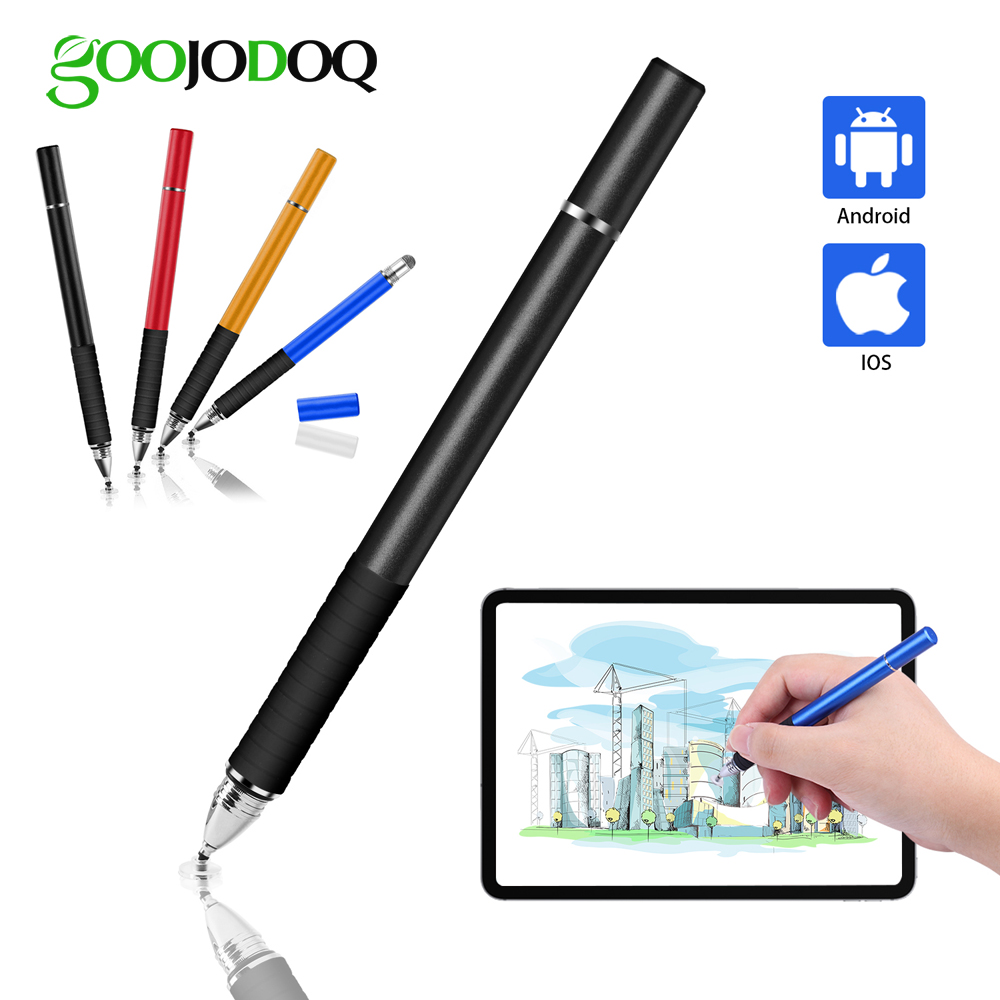Universal Stylus, GOOJODOQ 2 in 1 Touch Screen Pen for All iPad Pencil iPhone Huawei Stylus Xiaomi Phone Tablet for Apple Pencil