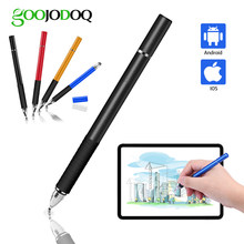 Evrensel Stylus, GOOJODOQ 2 in 1 dokunmatik ekran kalemi tüm iPad kalem iPhone Huawei Stylus Xiaomi tablet telefon için Apple kalem(China)