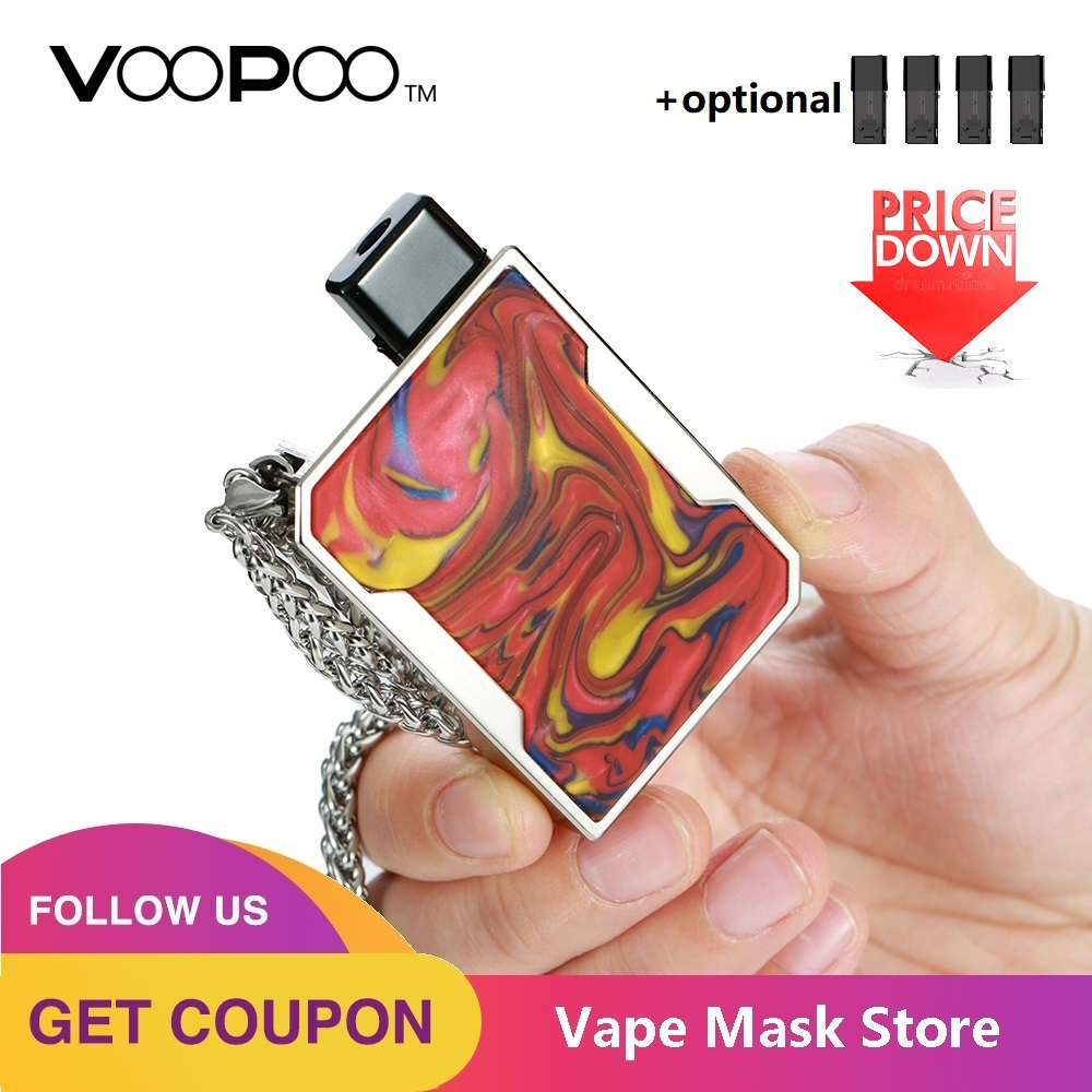 Newest VOOPOO DRAG Nano Pod Vape Kit W/ 750mAh Battery & 1ml Cartridge & GENE Chip & Resin Panel Pod System Vs Drag 2