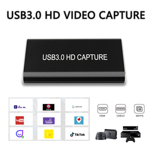 Image 1 - USB 3.0 HDMI Video Capture Card Device HD USB3.0 1080p60Hz Live Stream Game  Audio CaptureGrabber for wins10 Linux MAC PS4 DVD