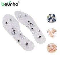 Магнитная терапия силиконовые стельки для женщин массаж ног Потеря веса стельки для похудения Анти-усталость обувные подушечки для ухода за ногами Инструменты