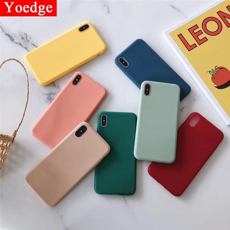 Fashion Candy Color Case For Xiaomi Redmi 7 7A S2 4A 4X 5 Plus 6A Note 7 6 5 5A K20 Pro Mi A1 A2 8 Lite 9 SE 9T F1 Soft TPU Case