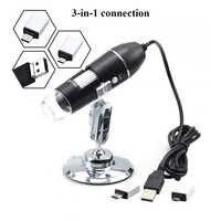 Halter mikroskop Usb digital mikroskop 500X 1000X 1600X Led mikroskop tragbare für handy reparatur biologische mikroskop