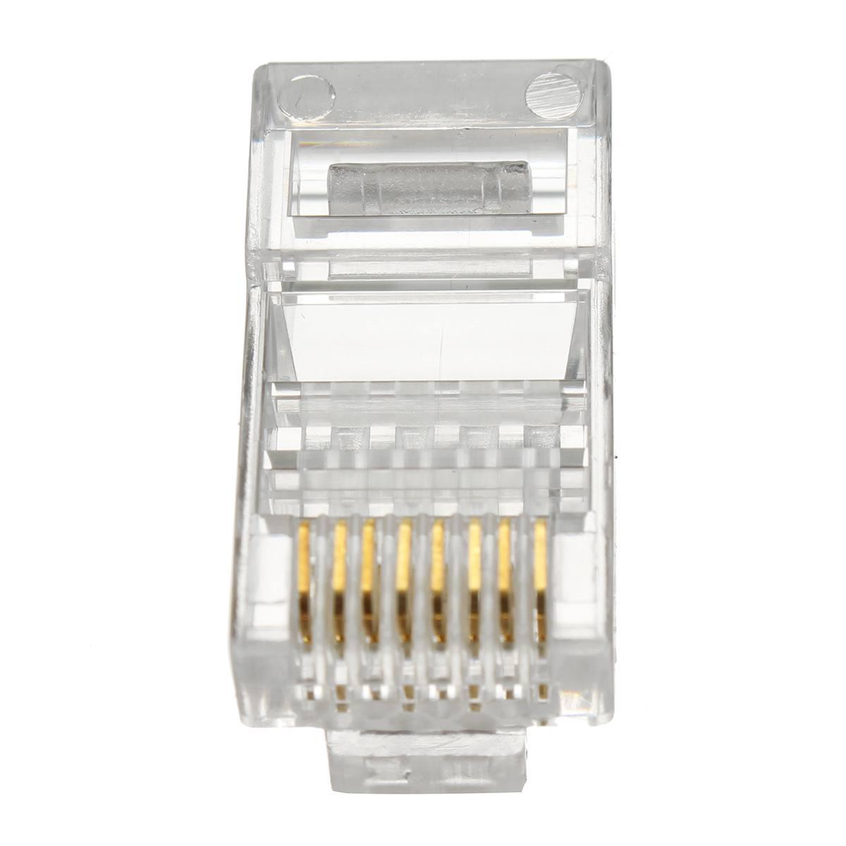 1000 CAT6 EZ RJ45 Network Shielded Modular Plug 8P8C Connector End Pass Through