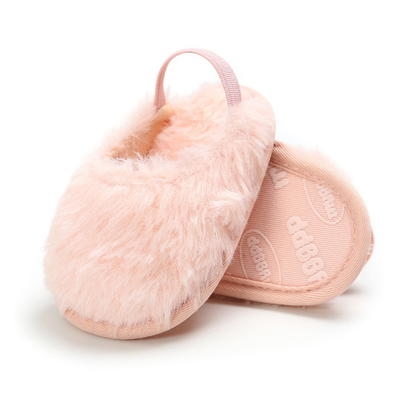 Newborn Autumn Winter First Walker Slippers Cute Anti-slip Baby Slippers Toddler Super Keep Warm At Home Flocked Baby Shoes