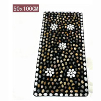 50 cm * 100 cm pebbles massage massage cushion rubber blanket foot pad foot massage stone care