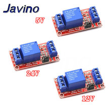 цена на 1 Channel 5V 12V 24v Relay Module Board Shield with Optocoupler Support High and Low Level Trigger for arduino