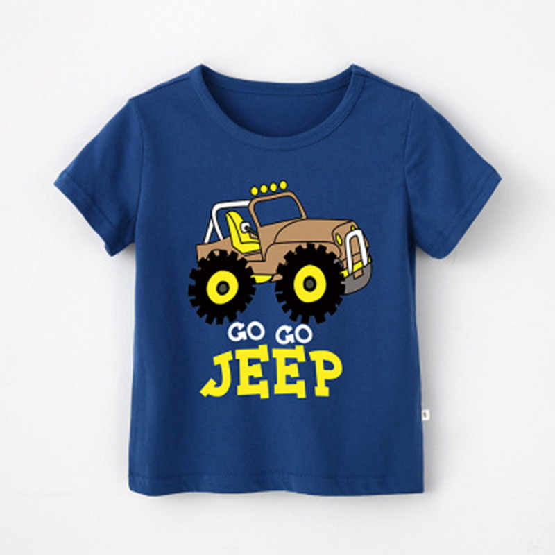 Sommer Casual kinder autos lkw Dinosaurier Cartoon T-Shirts kinder Jungen Tops Tees baby jungen Tops Baby kinder t-Shirts 4018