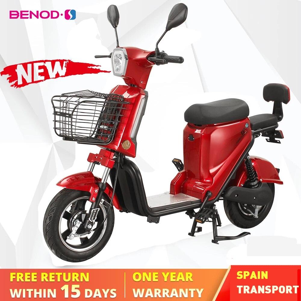 BENOD Moto électrique Moto électrique pour adulte 25 km/h Moto cyclomoteur Scooter Ebike Moto Eléctrica cyclomoteur EU Transport