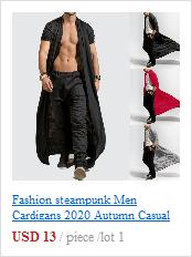 H5282a187688047019e41979aa80c248dL Fashion steampunk Men Cardigans 2020 Autumn Casual Slim Long streetwear Shirt trench Long Coat Outerwear Plus Size free shiping