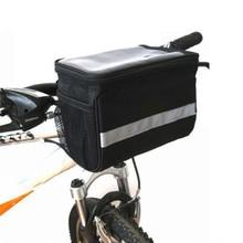 цена на Bicycle Bag Road Bike Mountain Bike Bike Handle Bag Black Outdoor Bike Front Bag Lock Design Bike Accessories