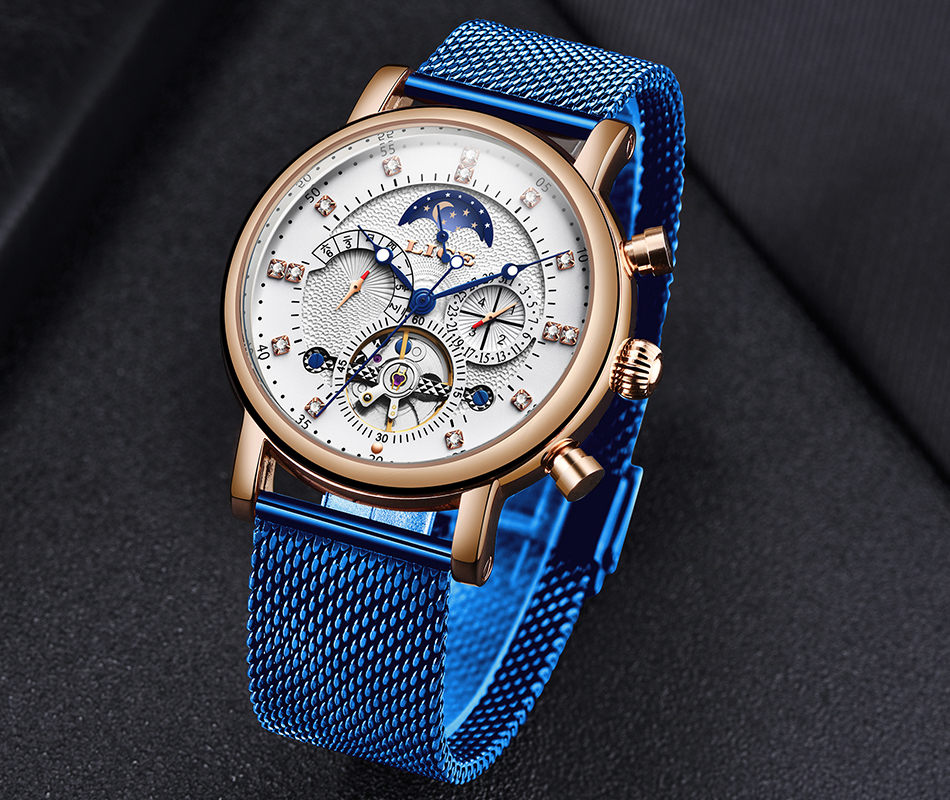 H5282aac94c1741c4a4574aa408c89a3fb LIGE Gift Mens Watches Brand Luxury Fashion Tourbillon Automatic Mechanical Watch Men Stainless Steel watch Relogio Masculino