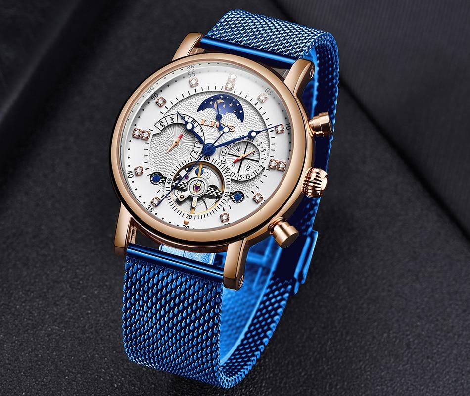 H5282aac94c1741c4a4574aa408c89a3fb LIGE Gift Mens Watches Brand Luxury Fashion Tourbillon Automatic Mechanical Watch Men Stainless Steel watch Relogio Masculino