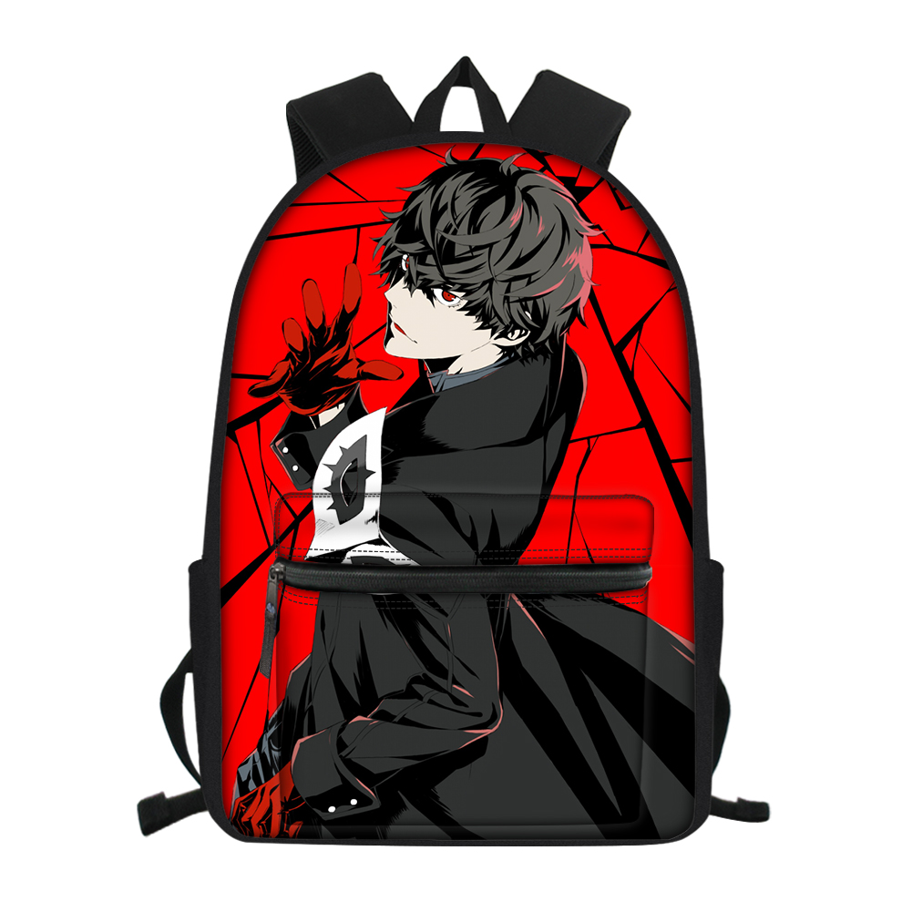 <font><b>PERSONA</b></font> <font><b>5</b></font> 3D Print School Bag Teenager Boy Girl Travel Laptop <font><b>Backpack</b></font> Men Women COOL P5 Joker Canvas Satchel Bookbag Daypack image
