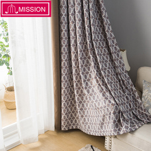 MISSION Luxurious Modern Geometric Pattern Jacquard stitching Blackout Curtains Drapes Blinds for Bedroom Living Room Curtain