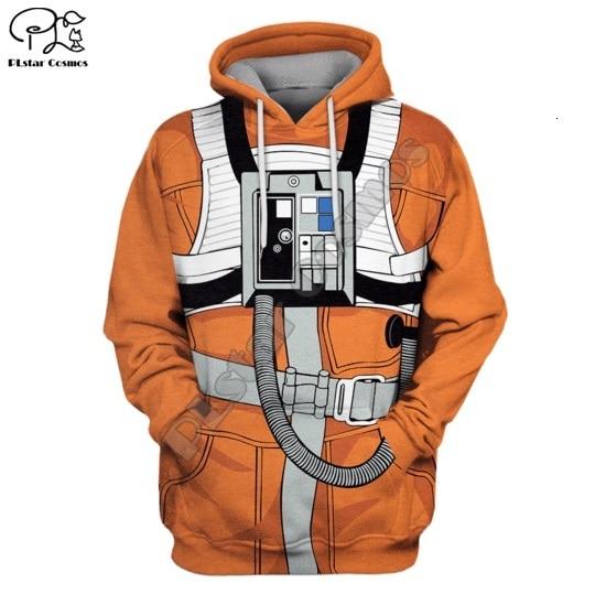 SW X-Wing Pilot Armstrong Space Suite Full-Print  Hoodie/Sweatshirt/vest/Zipper/tee  Men Women Casual Coseplay Spacesuit Style-1