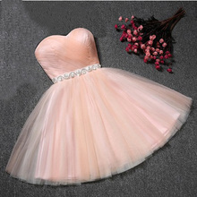 Strapless Bridesmaid Dress For Girls Plus Size Short Party