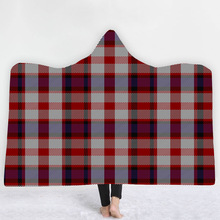 Plaid Hooded Blanket For Adults Childs 3D Printed Plush Soft Fleece Blanket Wearable Warm Throw Blanket For Home Travel Picnic plaid magic hooded blanket for home travel picnic 3d printed sherpa fleece blanket wearable warm throw blanket for adults childs
