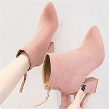 Обувь; Женские ботильоны на квадратном каблуке; zapatos de mujer;