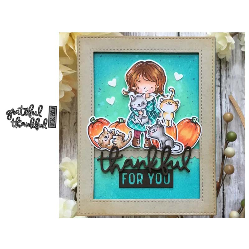 Thanksgiving Letter Metal Cutting Dies Cut Die Mold Decoration Scrapbooking Embossing Paper Craft Mould Punch Stencils