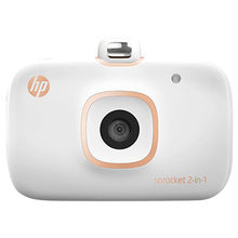 HP Sprocket 2-in-1 Portable Photo Printer & Instant Camera for 5*7.6cm (2x3-inch) Sticky-Backed Zink Paper