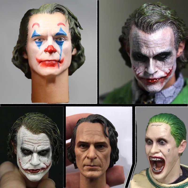 1//6 Joker Accessories DC2019 Clown Head Carving F12/'/'Action Figure Model Toys