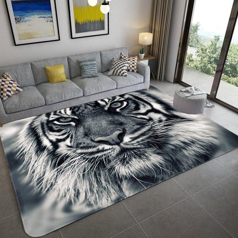 3d Carpet Living Room Rug For Living Room And Bedroom Kids Room Floor Mat Parlor Large Size Kitchen Tiger Tapis Home Decorative