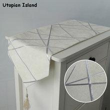 Chemin de Table élégant, décoration de noël, Chenille Jacquard, chemin de Table moderne de luxe avec glands