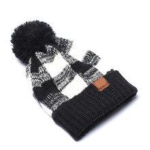 Вязанная шапочка зимняя шапка модная теплая для взрослых с биркой