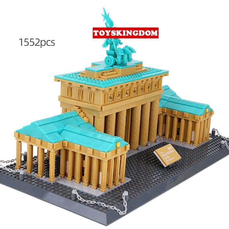 Building Blocks Leaning Tower of Pisa  Castle Model Gift Construction Kid Figur