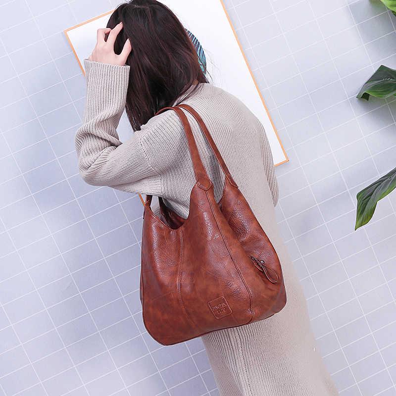 Сумка женская, винтажная, из кожи, вместительная, дизайнерские, 2019