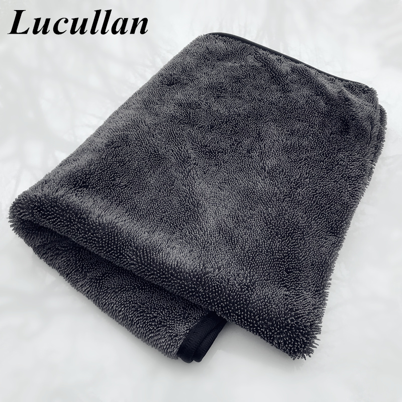 Lucullan 60X90cm Microfiber Twist Drying Towel Professional Car Cleaning Cloth For Cars Washing Polishing Waxing Detailing