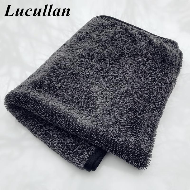 Lucullan 60X90cm Microfiber Twist Drying Towel Professional Car Cleaning Cloth For Cars Washing Polishing Waxing Detailing