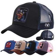 Newest Hot Selling Anime Patch Design Trucker Hat Two Famous Cartoons Cotton Mesh Baseball Cap For Men Women Gorras Casquette