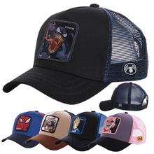 Newest Hot Selling Anime Patch Design Trucker Hat Two Famous Cartoons Cotton Mesh Baseball Cap For Men Women Gorras Casquette