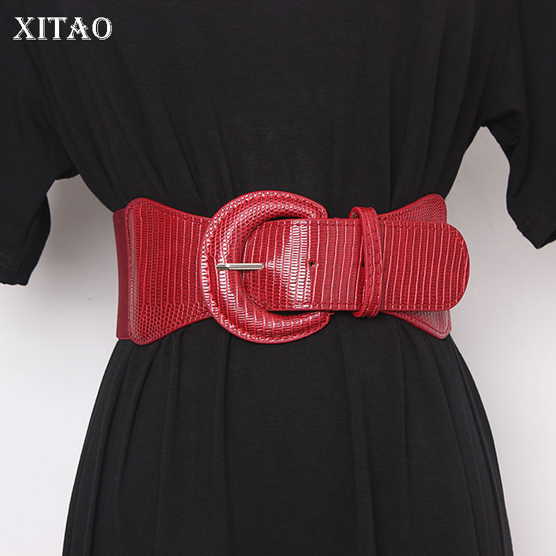 XITAO Fashion Corset Belt For Women Wild New Womens Wide Belts Women Clothes Accessories Streetwear Girdle Women Trend GCC3196