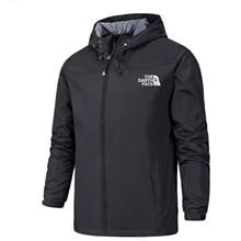 2020 Winter Jacket Men Lightweight Hooded Zipper Waterproof Coat Windproof Warm Solid Color Fashion Male Coat Outdoor Sportswear