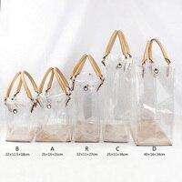Conjunto de bolsos de PVC Hechos a mano para mujer, accesorios, Asa de bolso de cuero, bolso de hombro