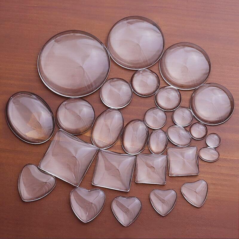 8 10 12 18 20 30 40 мм круглые плоские задние прозрачные стеклянные