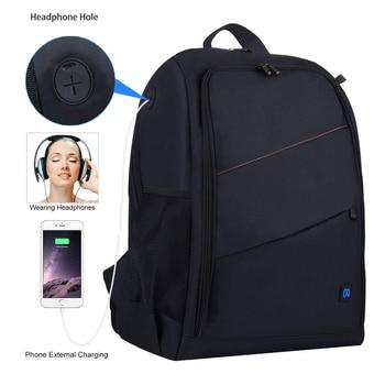 PULUZ Photo Backpack DSLR Bag Tripod Bag Outdoor Portable Waterproof Camera Photography Sac Appareil Reflex Black Sac appareil 2