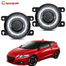2 X przedni zderzak samochodowy zespół światła przeciwmgielnego oczy anioła LED światła do jazdy dziennej DRL 30W 8000LM 12V dla Honda CR-Z CRZ 2013 2014 2015