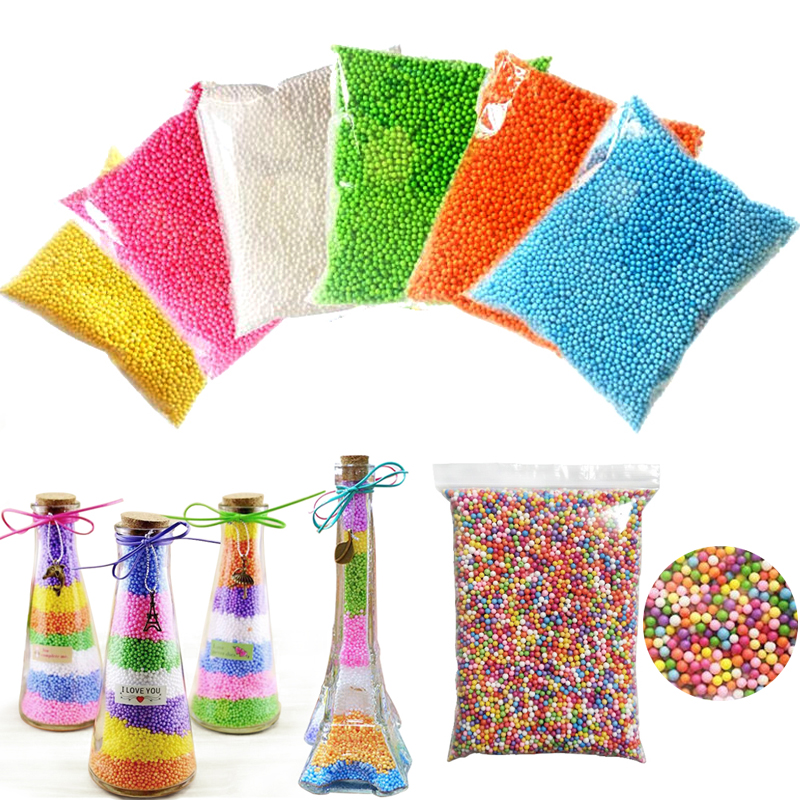 15g/Pack Foam Balls Polystyrene Styrofoam Foam Beads Filler Bottle Small Tiny Snow Mud Particles DIY Accessories Decoration