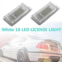 2 pces diodo emissor de luz número da placa de licença lâmpada luz da cauda lâmpadas para bmw 3er e46 4d 1998-2003