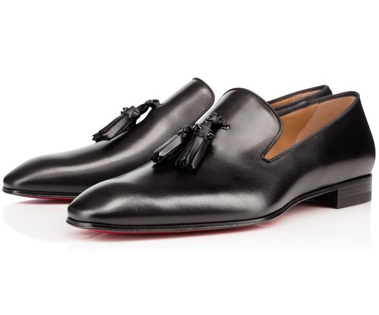 Новинка; брендовые лоферы с красной подошвой; Роскошная обувь для вечеринки и свадьбы; дизайнерские черные модельные туфли из лакированной кожи и замши; мужские слипоны на плоской подошве