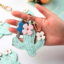 Strap Keychain Gift-Accessories Cactus Car-Key-Ring Good-Friend for Pear Prickly Female